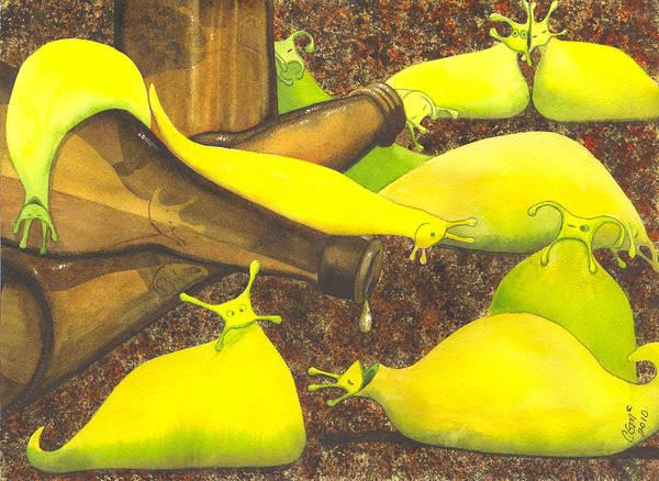 Painting - Slugaholics by Catherine G McElroy