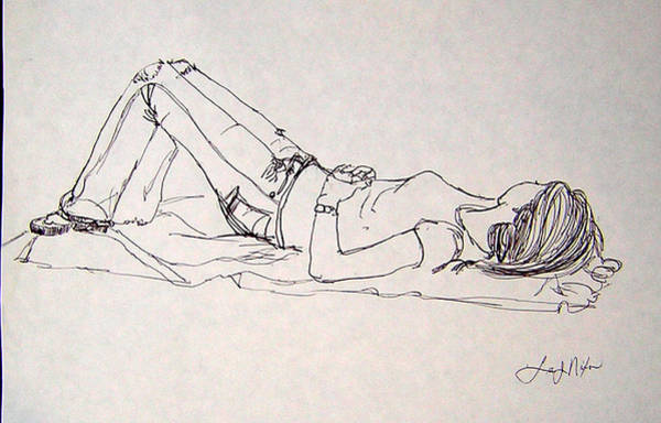 Spontaneous Drawing - Slumbering...sweet Dreams by Lee Nixon