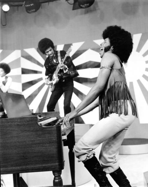 Sly And The Family Stone Performing Art Print by Everett