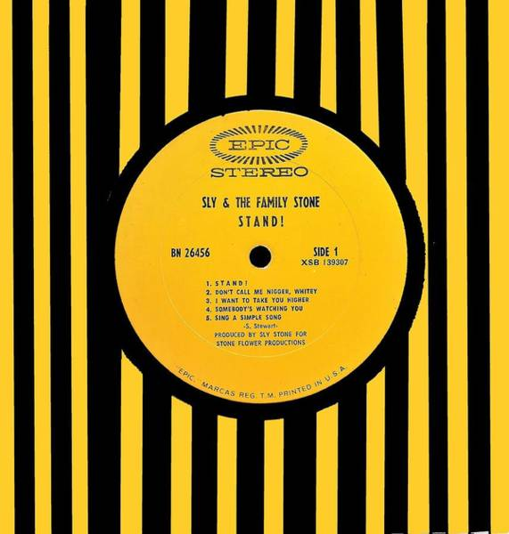Wall Art - Digital Art - Sly And The Family Stone Stand Lp Label by Doug Siegel