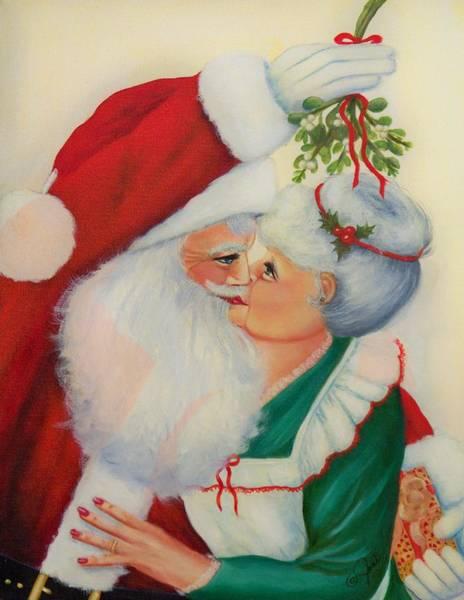 Painting - Sly Santa by Joni McPherson