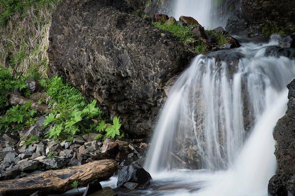 Photograph - Small Beach Waterfall by Robert Potts