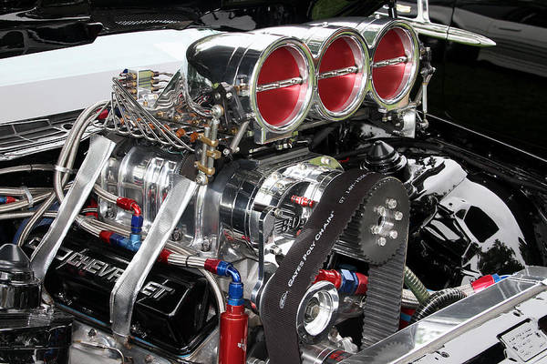 Photograph - Small Block Chevy With Blower by Bob Slitzan
