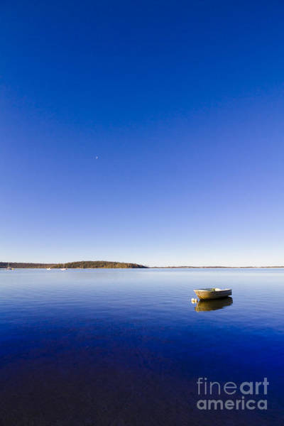 Anchor Photograph - Small Boat Anchored Out To Sea by Jorgo Photography - Wall Art Gallery