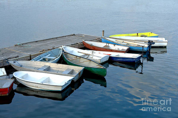 Photograph - Small Boats Docked To A Pier by Olivier Le Queinec