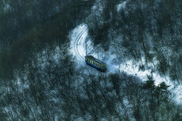 Photograph - Small Casella Train Snow Landscape by Enrico Pelos