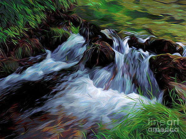 Digital Art - Small Creek by Jutta Maria Pusl