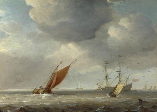 Vice Painting - Small Dutch Vessels In A Breeze by Willem van de Velde