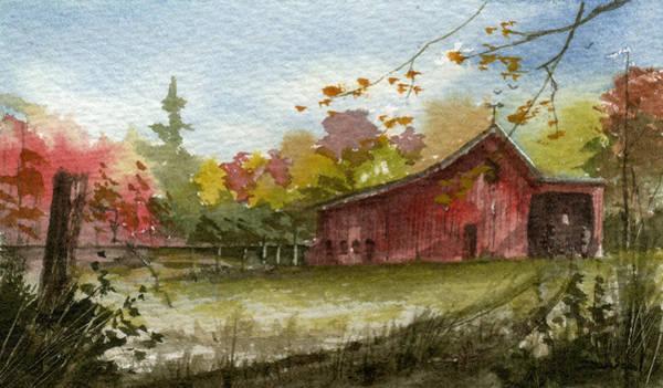 Wall Art - Painting - Small Fall Barn by Sean Seal