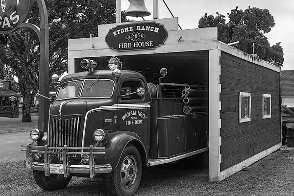 Fire Truck Photograph - Small Fire House by Garry Gay
