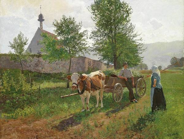 Wall Art - Painting - Small Fun On The Country Road by Hermann Baisch