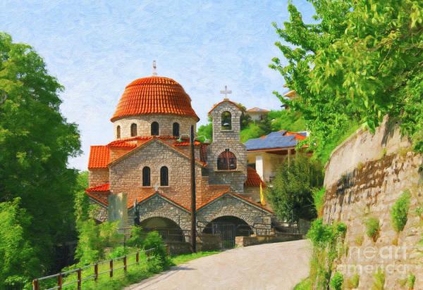 Digital Art - Small Greek Town by Donna L Munro