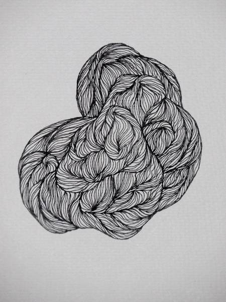 Drawing - Small Ink Design by Beth Akerman