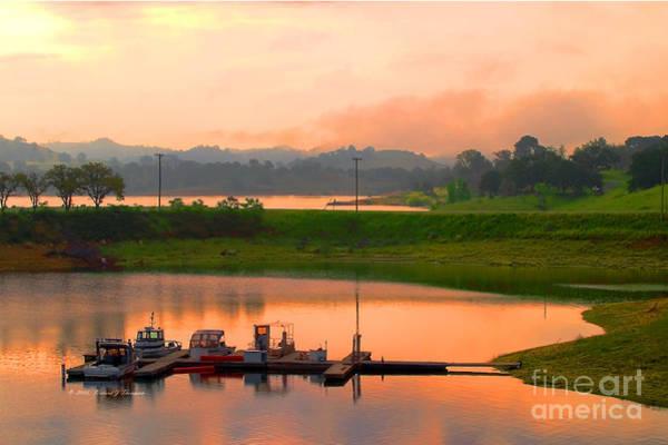Photograph - Small Lake Boat Dock by Richard J Thompson