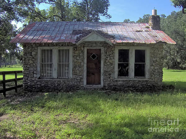Photograph - Small Limestone Home by D Hackett