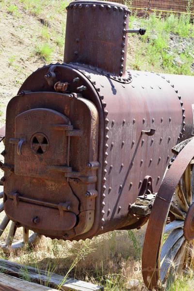 Wall Art - Photograph - Small Mining Engine At Rusty Rest  by Kae Cheatham