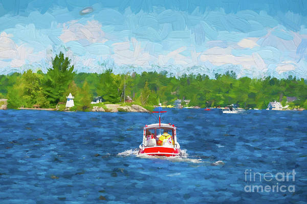 Photograph - Small Red Tugboat by Les Palenik