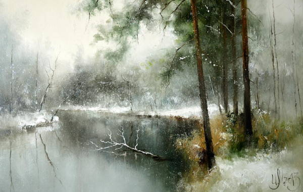 Painting - Small River In The Forest by Igor Medvedev