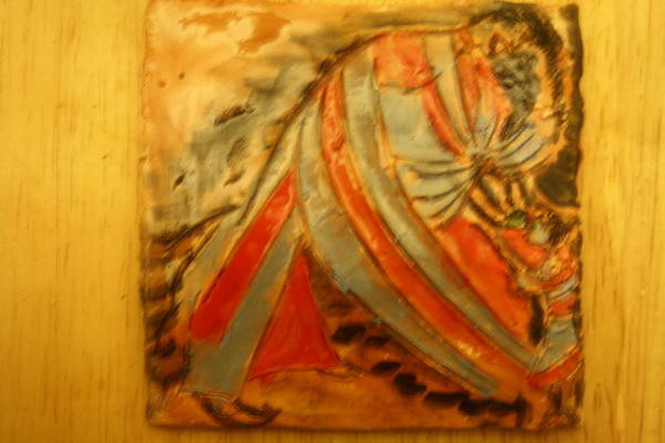Ceramic Art - Small Sips - Tile by Gloria Ssali