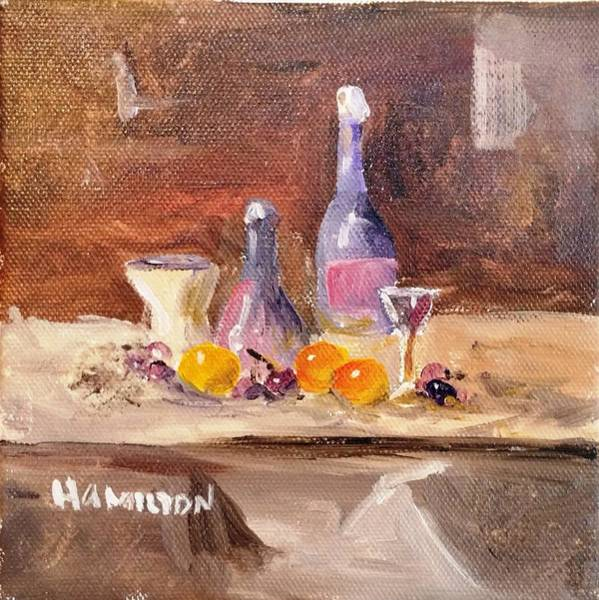 Painting - Small Still Life by Larry Hamilton