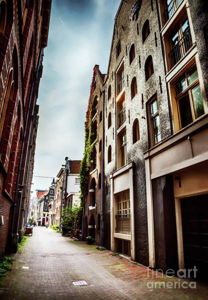 Photograph - small street in Amsterdam by Ariadna De Raadt