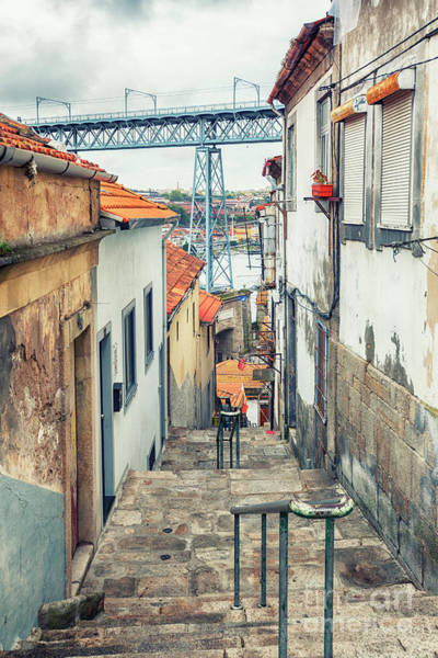 Photograph - small street in Porto, Portugal by Ariadna De Raadt