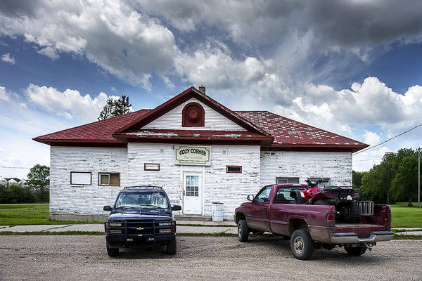 Honky Tonk Photograph - Small Town Bar And Grill In North Dakota by Donald  Erickson