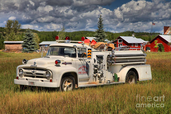 Photograph - Small Town Fire Engine by Adam Jewell