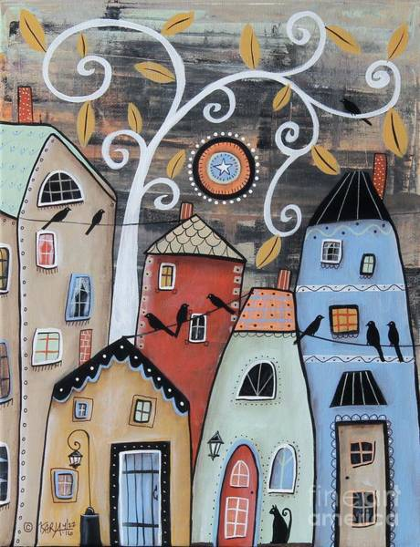 Wall Art - Painting - Small Town by Karla Gerard