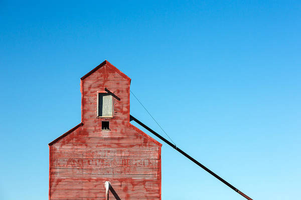 Grain Elevator Photograph - Small Town Shapes by Todd Klassy
