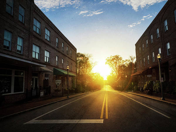 Photograph - Small Town Street Sunset by Whitney Leigh Carlson