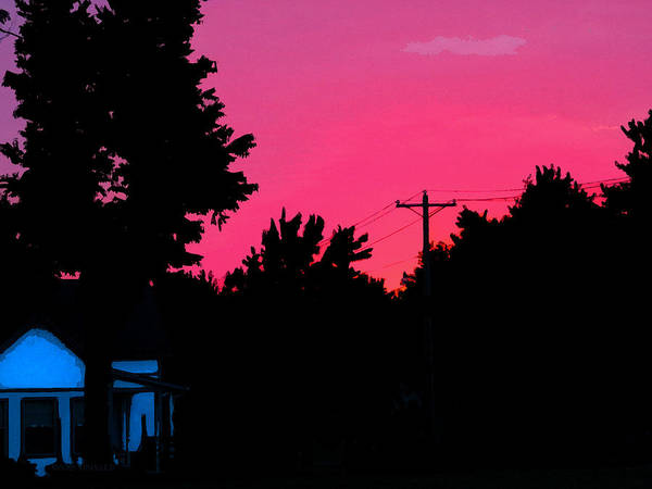 Photograph - Small Town Sunset by Susan Vineyard