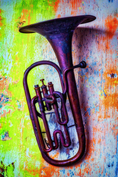 Dent Photograph - Small Tuba by Garry Gay