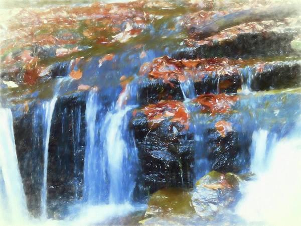 Digital Art - Small Waterfall Art by Rusty R Smith