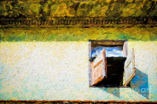 Photograph - Small Window With Shutters by Les Palenik