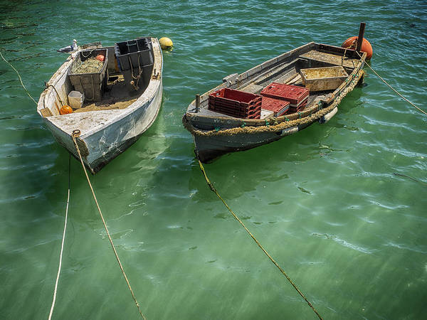 Photograph - Small Working Boats In Folkestone Harbour by Stephen Barrie