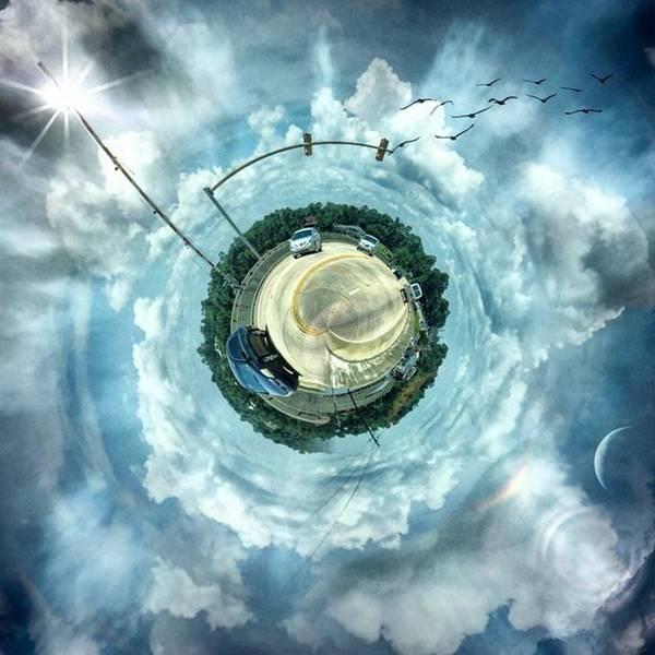 Small World #circular #tinyworld Art Print