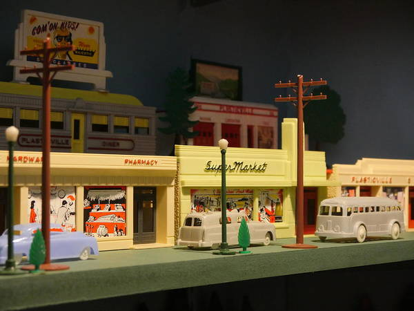 Photograph - Small World - Plasticville Main Street by Richard Reeve