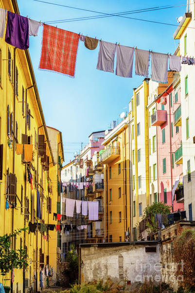 Photograph - small yard in old town La Spezia, Italy by Ariadna De Raadt