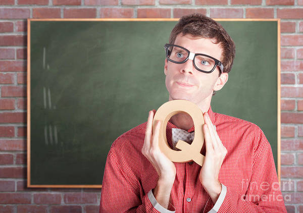 Intellectual Photograph - Smart Male School Teacher With Education Question by Jorgo Photography - Wall Art Gallery