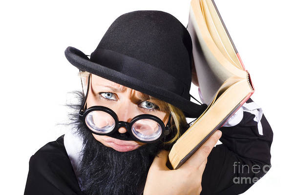 Mens Clothing Wall Art - Photograph - Smart Woman Researching Info by Jorgo Photography - Wall Art Gallery
