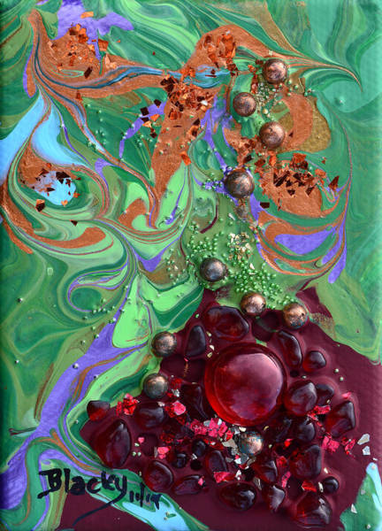 Wall Art - Painting - Smashing A Pomegranate by Donna Blackhall