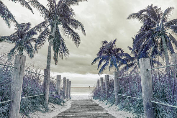 Wall Art - Photograph - Smathers Beach Sepia Blue Purple by Betsy Knapp