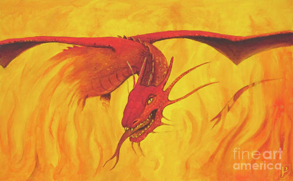 Smaug Painting - Smaug The Golden by Gordon Palmer