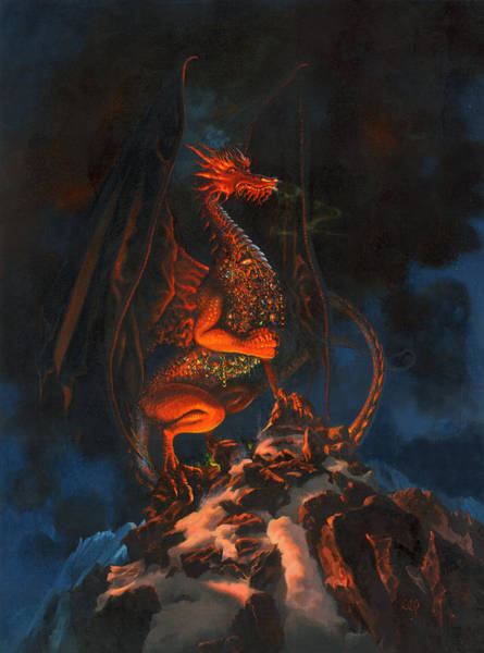 Smaug Painting - The Hobbit - Smaug The Impenetrable by Carol Phenix