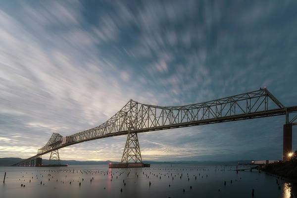 Astoria Bridge Photograph - Smeared Sunset by Ryan Manuel