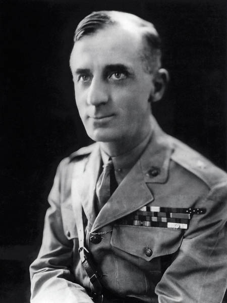 Medal Of Honor Photograph - Smedley Butler - U. S. Marines General - 2 Time Medal Of Honor Recipient by Daniel Hagerman