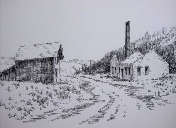 Drawing - Smelter Ruins Glendale Ghost Town Montana by Kevin Heaney