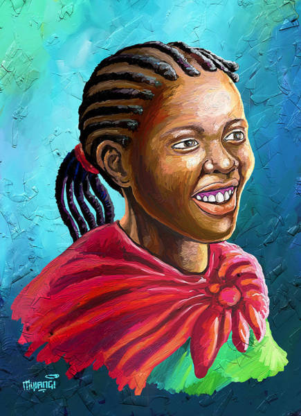 Rasta Painting - Smile by Anthony Mwangi