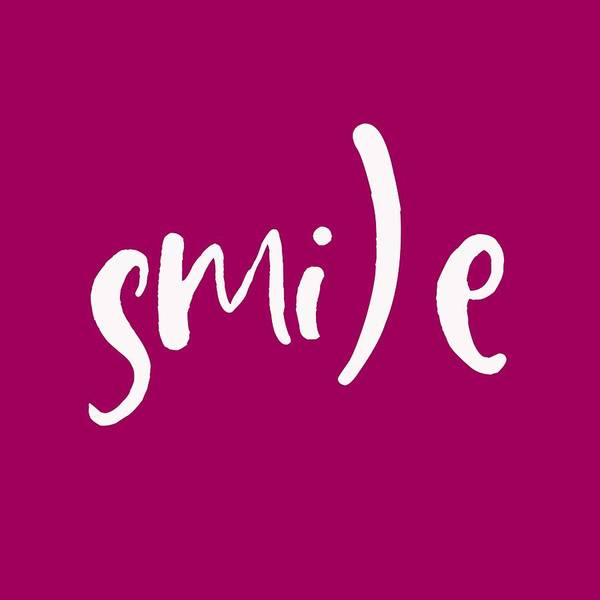 Mindset Wall Art - Painting - Smile - Motivational And Inspirational Quote 2 by Celestial Images